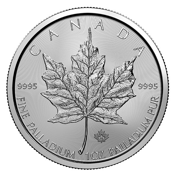 Palladium Canadian Maple Leaf | $50 Palladium Maple Leaf