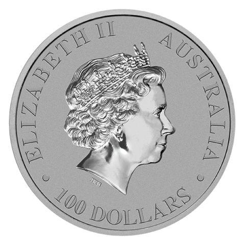 platinum Australian platypus obverse