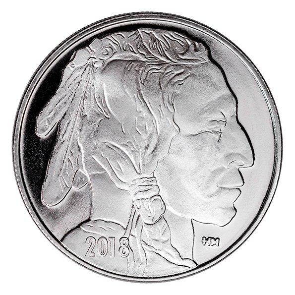 silver Buffalo round obverse