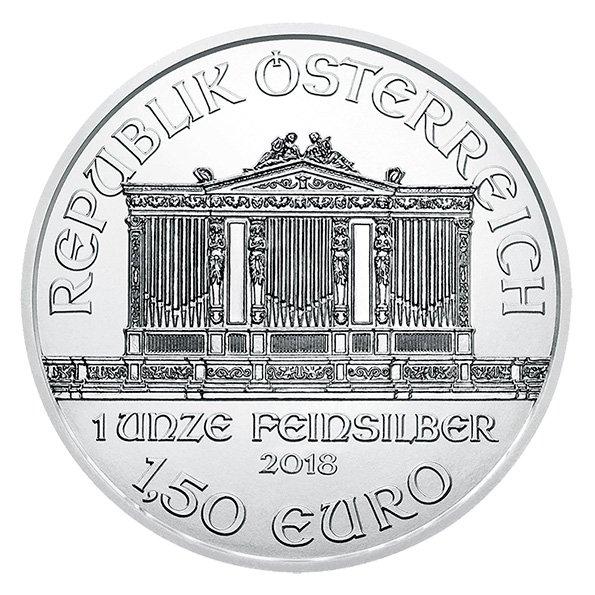 Vienna Philharmonic silver coin obverse