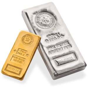 gold silver bars