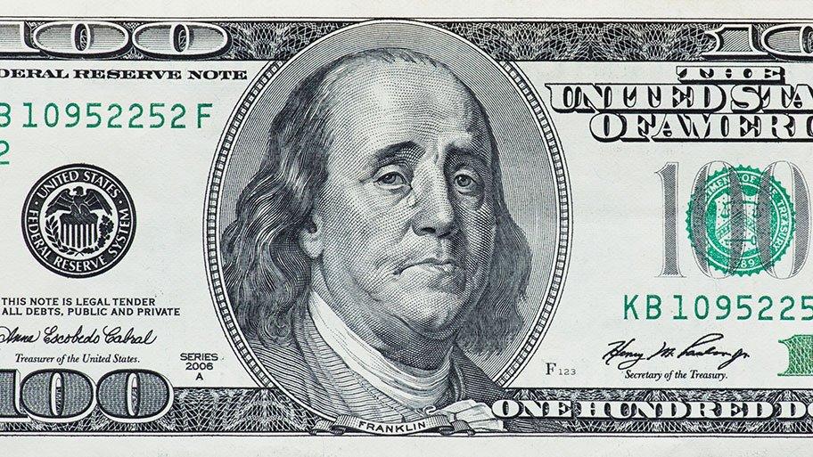 soft money - crying Franklin dollar