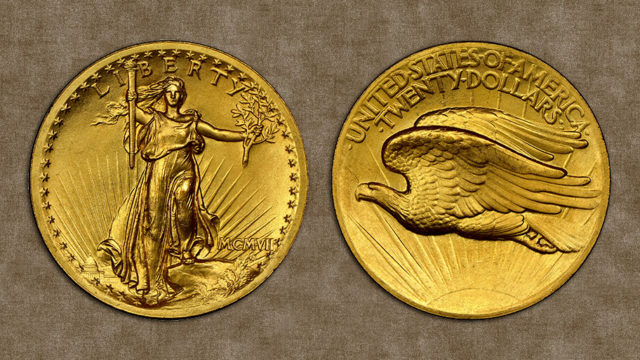 pre-1933 Saint-Gaudens high relief gold coins