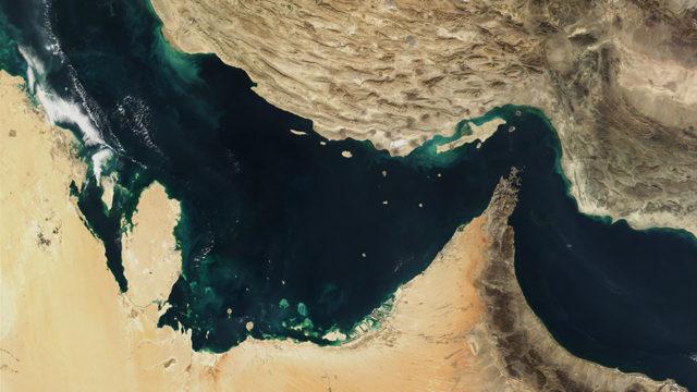 Strait of Hormuz satellite view