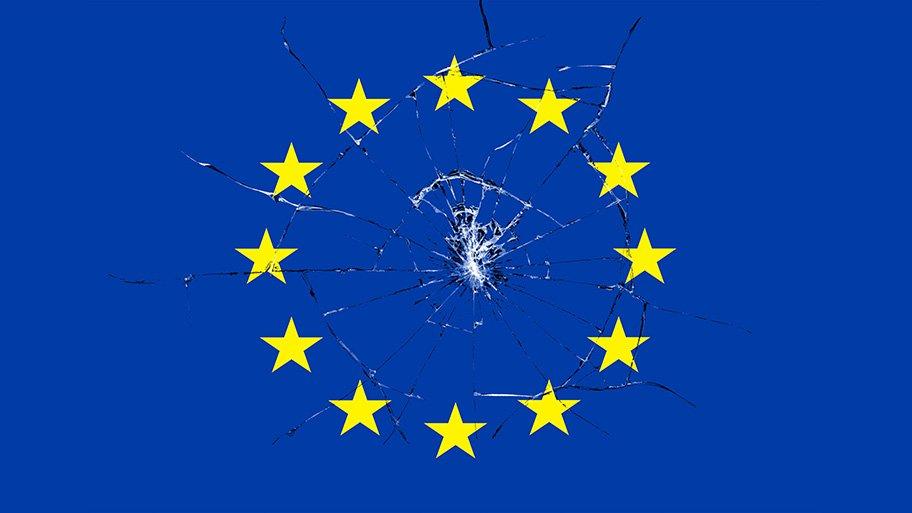 EU flag broken