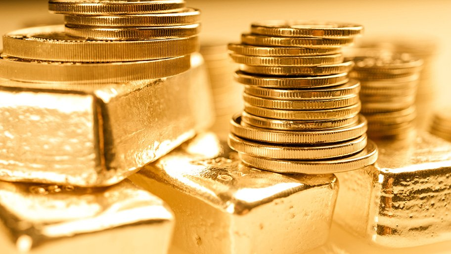 bullion gold coins and bars