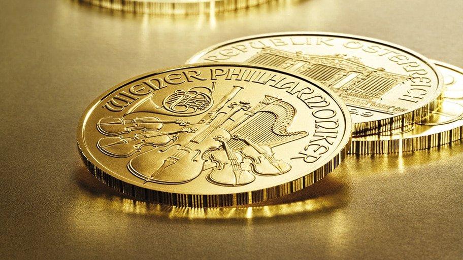 gold Vienna Philharmonic coins
