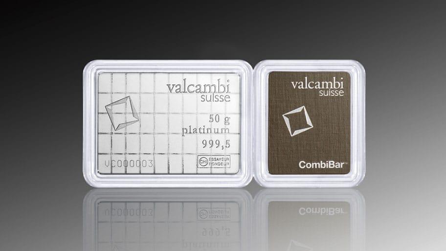 Valcambi platinum combibar