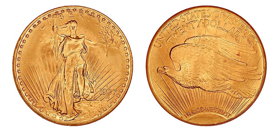 1927 D St. Gaudens Double Eagle