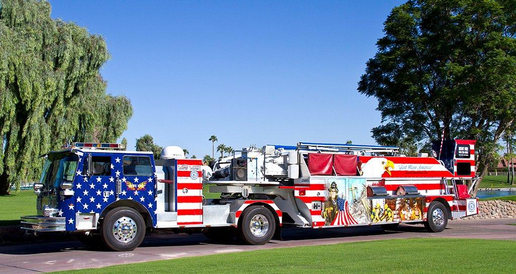 Fire Up Freedom firetruck