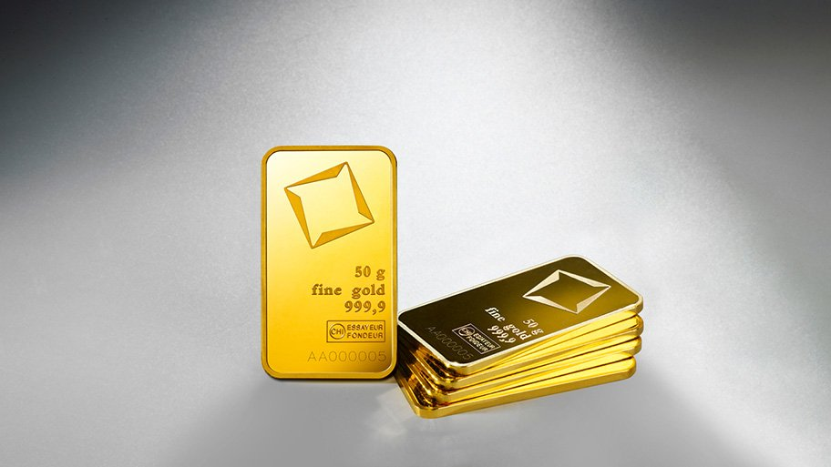 50g Valcambi gold bars