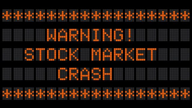 stock market boom warning for crash