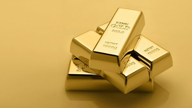 gold bars - not paper assets